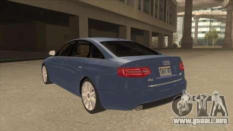 2010 Audi A6 4.2 Quattro para GTA San Andreas vista hacia atrás
