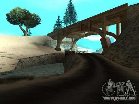 Invierno v1 para GTA San Andreas segunda pantalla