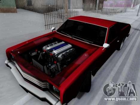Picador V8 Picadas para GTA San Andreas vista posterior izquierda