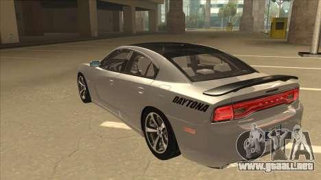 Dodge Charger RT Daytona 2011 V1.0 para GTA San Andreas vista hacia atrás