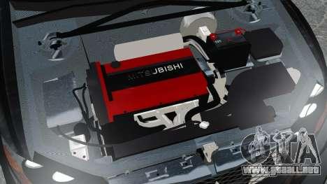 Mitsubishi Lancer Evolution VII Freestyle para GTA 4 vista interior