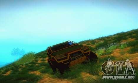 UAZ Patriot camioneta para GTA San Andreas vista hacia atrás