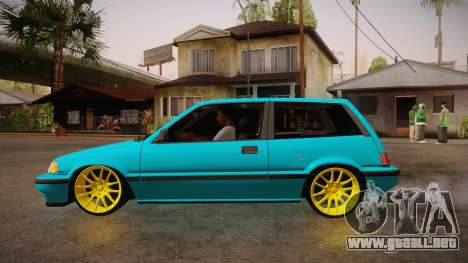 Honda Civic SI Hellaflush para GTA San Andreas left