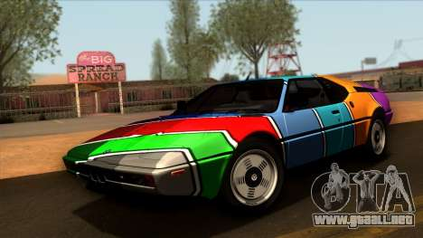 BMW M1 (E26) 1979 para la vista superior GTA San Andreas