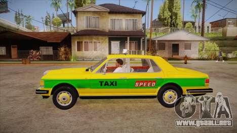 Rolls-Royce Silver Spirit 1990 Taxi para GTA San Andreas left
