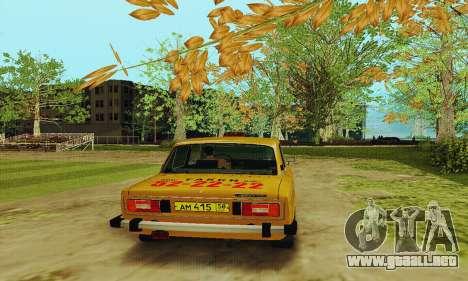 Taxi 2106 VAZ para la visión correcta GTA San Andreas
