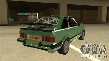 Ford Escort XR3 With Cosworth Spoiler para la visión correcta GTA San Andreas