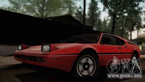 BMW M1 (E26) 1979 para vista inferior GTA San Andreas