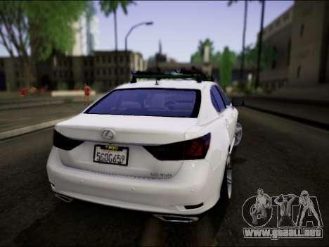 Lexus GS 350 para GTA San Andreas left
