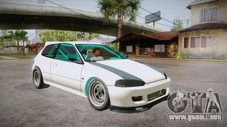 Honda Civic (EG6) Drag Style para GTA San Andreas vista hacia atrás