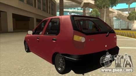 1997 Fiat Palio EDX Edit para GTA San Andreas vista hacia atrás