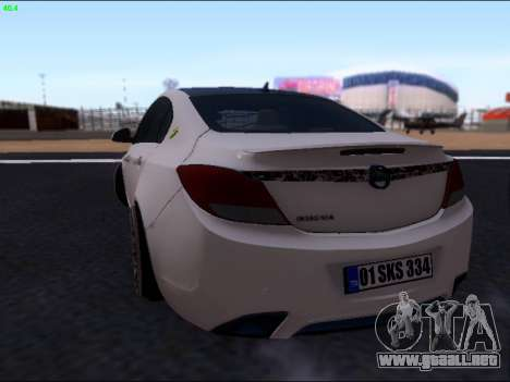 Opel Insignia para GTA San Andreas vista hacia atrás
