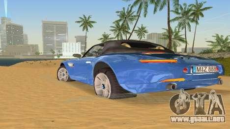 BMW Z8 para GTA Vice City vista desde abajo