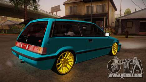 Honda Civic SI Hellaflush para la visión correcta GTA San Andreas