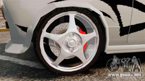 Fiat 124 Tuning para GTA 4 vista hacia atrás