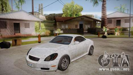 Lexus SC430 2JZ-GTE Black Revel para vista inferior GTA San Andreas
