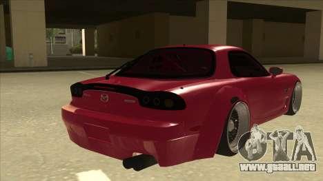 Mazda RX7 FD3S Rocket Bunny para la visión correcta GTA San Andreas
