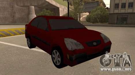 KIA RIO II para GTA San Andreas left