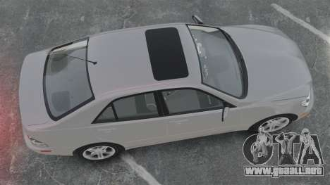 Lexus IS300 para GTA 4 visión correcta
