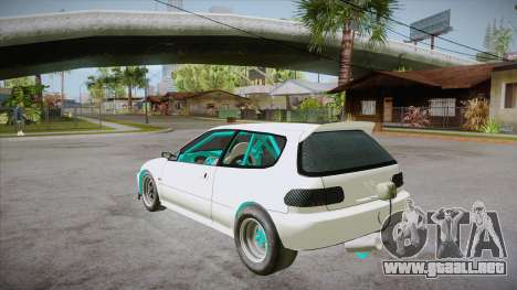 Honda Civic (EG6) Drag Style para GTA San Andreas vista posterior izquierda