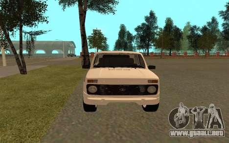 El Niva VAZ 21213 para la visión correcta GTA San Andreas