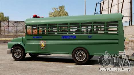 El autobús de la prisión, ciudad de Nueva York para GTA 4 left