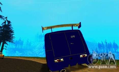 IZH 2715 Novosib Tuning para GTA San Andreas vista hacia atrás