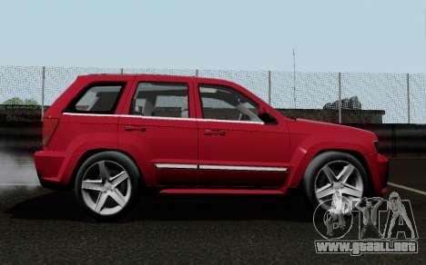 Jeep Grand Cherokee SRT10 para la visión correcta GTA San Andreas