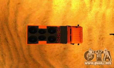GAZ 66 Cáucaso para GTA San Andreas vista hacia atrás