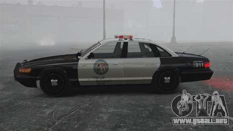 Una patrulla de la policía GTA V para GTA 4 left