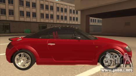 Audi TT Coupe BiMotor Black Revel para GTA San Andreas vista posterior izquierda