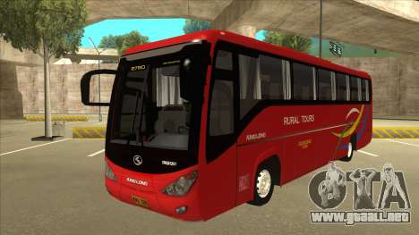 KINGLONG XMQ6126Y - Rural Tours 2780 para GTA San Andreas