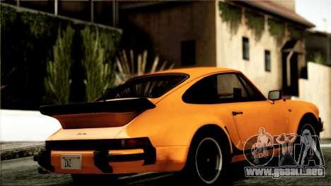 Porsche 911 Turbo 3.3 Coupe 1982 para GTA San Andreas vista posterior izquierda