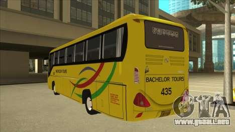 Kinglong XMQ6126Y - Bachelor Tours 435 para GTA San Andreas vista hacia atrás