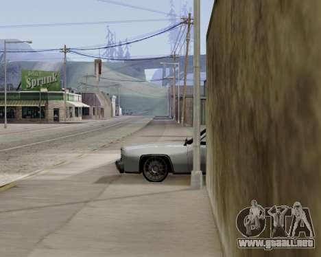 Buccaneer (beta) para GTA San Andreas vista posterior izquierda