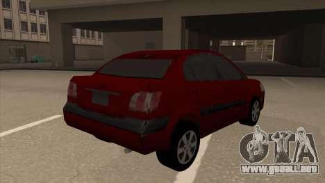 KIA RIO II para la visión correcta GTA San Andreas