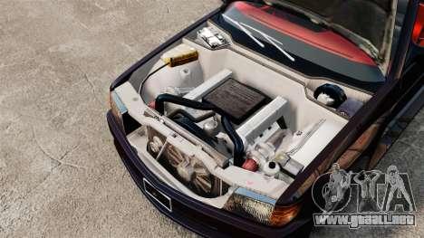 Mercedes-Benz C126 500SEC para GTA 4 vista hacia atrás