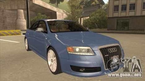 2010 Audi A6 4.2 Quattro para GTA San Andreas left