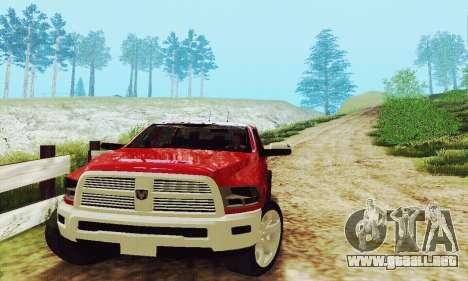 Dodge Ram 2500 HD para visión interna GTA San Andreas