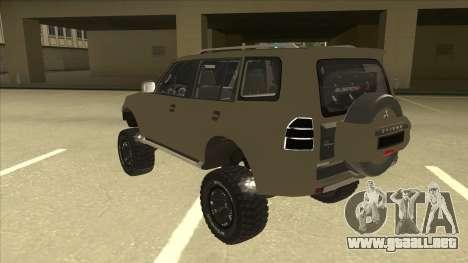Mitsubishi Montero EDVARD [ERICK] para GTA San Andreas vista hacia atrás