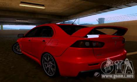 Mitsubishi Lancer Evo Drift Edition para GTA San Andreas left
