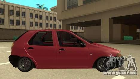 1997 Fiat Palio EDX Edit para GTA San Andreas vista posterior izquierda