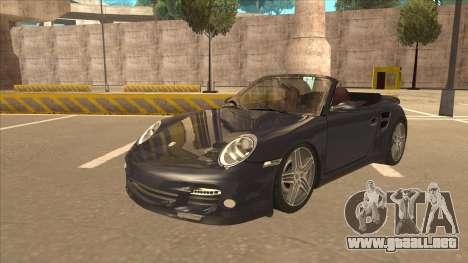 Porsche 911 Turbo Cabriolet 2008 para GTA San Andreas