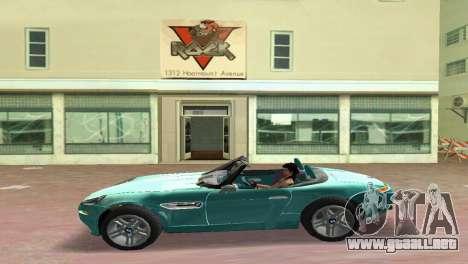 BMW Z8 para GTA Vice City visión correcta