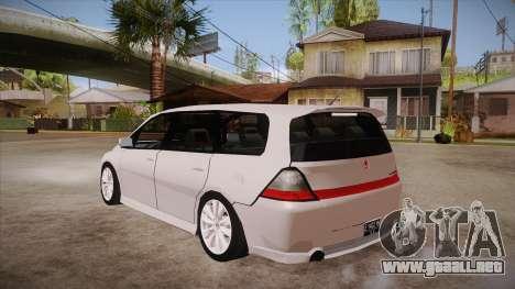Honda Odyssey v1.5 para GTA San Andreas vista posterior izquierda