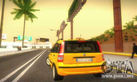 Fiat Panda Taxi para la visión correcta GTA San Andreas