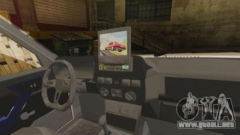 Tofas Dogan SLX para GTA 4 vista interior