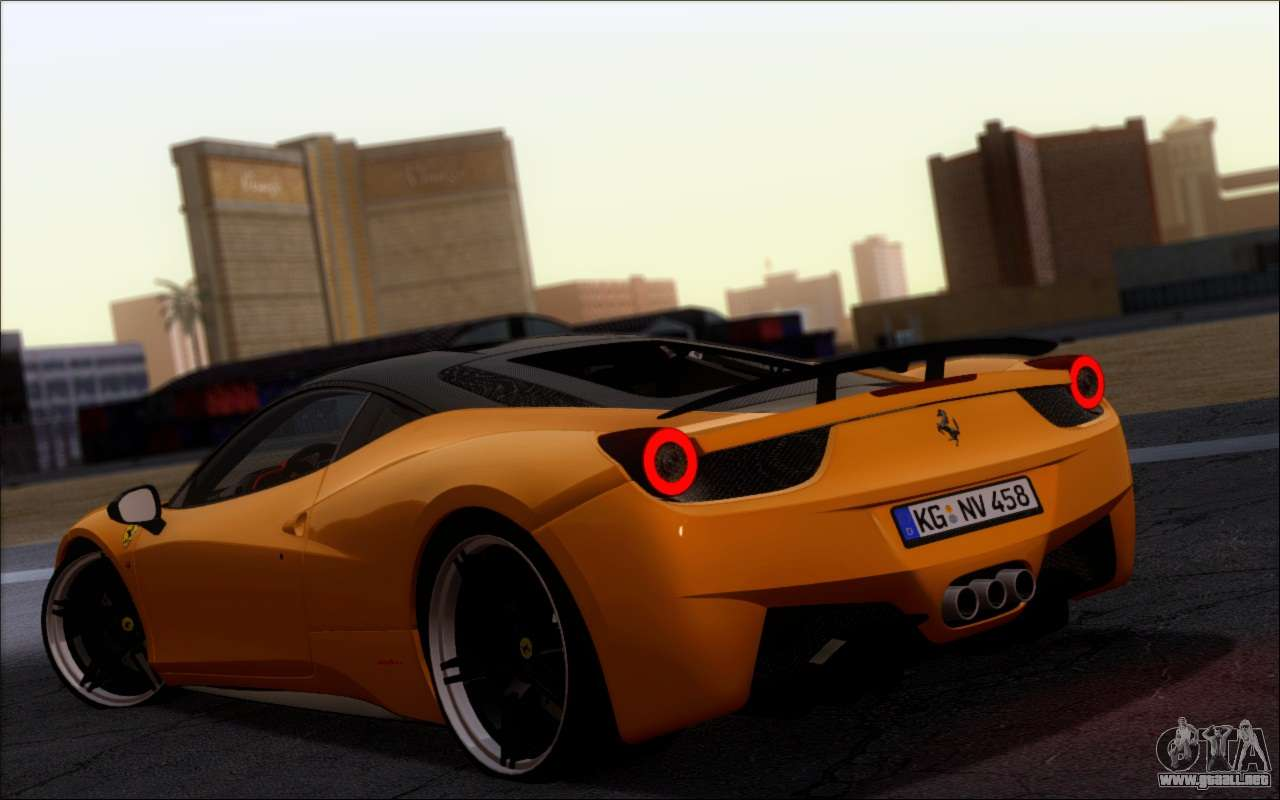 Ferrari 458 italia novitec ross para gta san andreas for Be italia