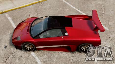 Infernus superior para GTA 4 Vista posterior izquierda