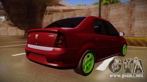 Dacia Logan Hellaflush para GTA San Andreas vista hacia atrás